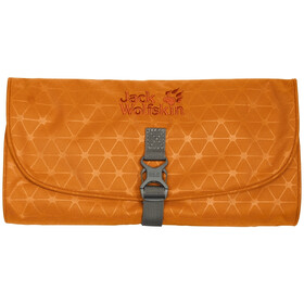 Jack Wolfskin Waschsalon Washbag orange grid